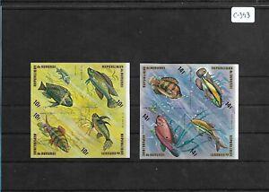 SMT 148, BURUNDI, marine life luxury set, Mi 1085/1106, in block of 4, MNH