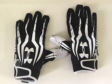Under Armour UA Football Receiver Gloves Youth XXL Black White