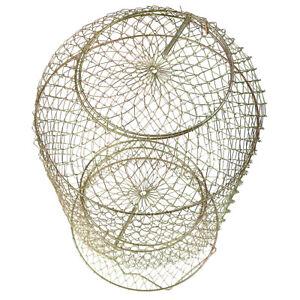Collapsible Steel Wire Fish Basket Shrimp Crab Cage 25cm/30cm/38cm Available