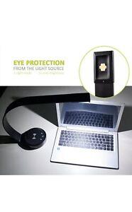 LED Desk Lamp Sleek, Aluminum, USB Port, 5 Brightness, 4 Color Mode, Auto Timer