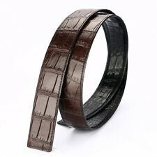 Replacement Belt No Buckle Crocodile Leather DOUBLE SIDE No Jointed Brown/Black