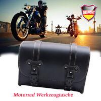 PU Leder Motorrad Werkzeugrolle Tasche SATTELTASCHE TOOLBAG für Harley Davidson