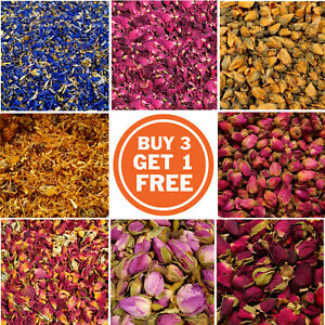 Edible Dried Flowers Buds Petals - Tea, Tincture, Infusion, Cake Decor, Cooking