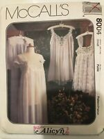 McCall's Pattern Misses Lingerie Size Medium 12 14 Nightgown Robe Baby Doll