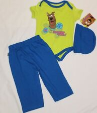 BOYS 6-9 months Scooby-Doo 3-piece outfit NWT Hat Pants Creeper / Romper