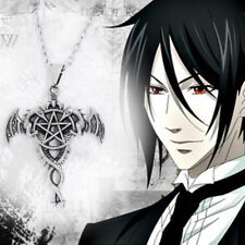 Black Butler Kuroshitsuji Ciel Sebastian Cross Metal Pendant Necklace Cosplay