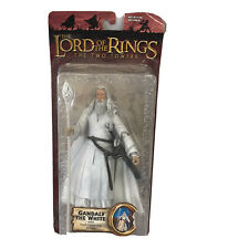 Toy Biz Lord of the Rings LOTR Two Towers Gandalf White Action Figure Staff