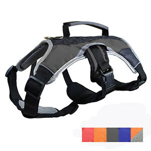 Dog Support Harness Vest, No Pull with Reflective trim and Padded Comfort