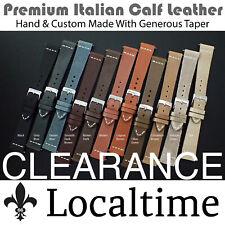 Premium Italian Calf Leather Watch Straps Custom & Hand Made 18-19-20-21-22mm