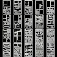 20* Bullet Journal Stencil Set Plastic Planner DIY Drawing Template Diary /Craft