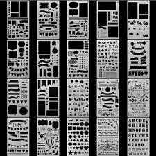 20pcs DIY Bullet Journal Stencil Set Plastic Planner Drawing Template Diary