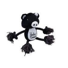 Harley-Davidson® Black & White Plush Pig Rope Tug Dog Squeaker Squeaky Toy H8400