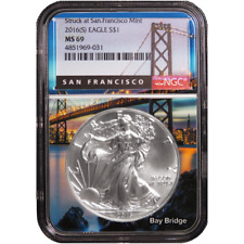 2016 (S) $1 American Silver Eagle NGC MS69 San Francisco Core