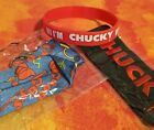 CHUCKY Child's Play Iron on Patch 4 x 1.5in Bracelet + Good Guys Landyard *NEW*