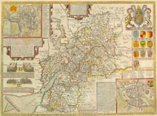 1616 Original Antique Map - GLOUCESTERSHIRE Glocestershire by John Speed