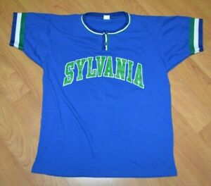 Retro Sylvania OH Henley Pullover Baseball Softball Jersey T Shirt Medium Nice