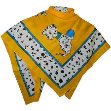 Halstuch Dalmatiner gelb 86x86cm Viskose Schultertuch Kopftuch