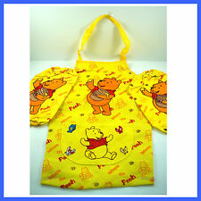Winnie The Pooh Childrens Kids Cartoon Painting With Apron Sleeves SET + Charm