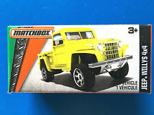 2016 Matchbox Power Grabs 1951 JEEP WILLYS 4x4 PICK-UP TRUCK - mint in box!