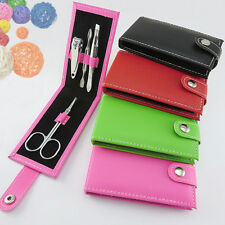 Chic 4pcs Manicure Set Professional Nail Care Kits Nail Clippers PVC CaseFO