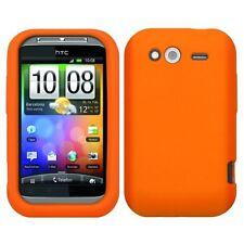 Skin Gel Silicona HTC Wildfire S Color Naranja-36903