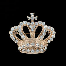 Rhinestone crown badge male suit blouse Collar jewelry diamond brooch badge spot