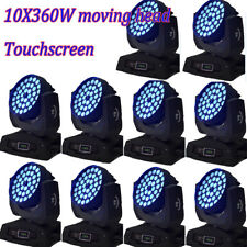 10Pcs Touch screen 36X10W Rgbw 360W moving head wash stage light free shipping