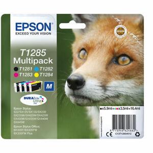 Genuine EPSON T1281 T1282 T1283 T1284 (T1285) Fox Multipack Ink Cartridges Lot