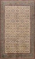 Vintage Floral Anatolian Turkish Oriental Area Rug Hand-knotted Wool Carpet 7x9