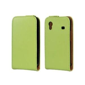 UK Real green Leather Flip Case for Samsung Galaxy Ace GT-S5830 / GT-S5830i