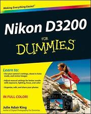 Nikon D3200 for Dummies by Julie Adair King (2012, Paperback)