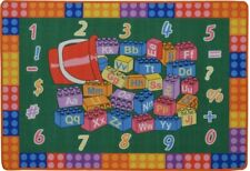 Kids Area Rug Carpet 3x5 Mat For Playroom Bedroom Alphabet Numbers Color Shape