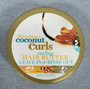 OGX Curling Hair Butter Quenching Coconut Curls Leave in Wash Out Deep Moisture