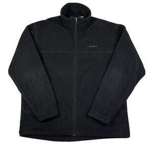 Patagonia Synchilla Mens Full Zip Polyester Fleece Black Size L Large