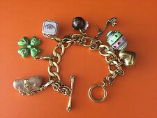 Juicy Couture Enamel Charm Bracelet with 6 Charms