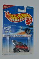 1996 Hot Wheels First Editions Radio Flyer Wagon Mint On Card 1:64 Diecast