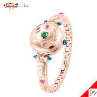 Clue X Wedding Peach Angel Daisy Saint Pendule Brass Watch Bracelet Authentic