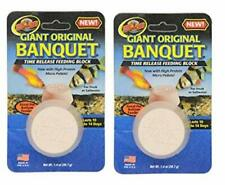 LOT OF TWO - ZOO MED ORIGINAL BANQUET GIANT BLOCK TIME RELEASE FEEDER FISH FOOD