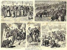 Von den Kämpfen in Bosnien * Österreich-ungarischer Feldzug * antique print 1878