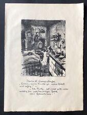 Heinrich Zille Berlin N Gerichtsstraße Lithographie 1919