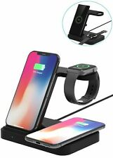3IN 1 10W Qi Wireless Charger For i Phone 11 XS Samsung S10+ iWatch Galaxy Watch