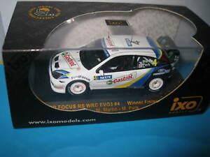 IXO 1:43 FORD FOCUS RS WRC EVO3 #4 RALLY FINLAND 2003 WINNER MARTIN  PARK RAM124