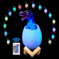 16 Farbe LED Nachtlicht Dinosaurier Touch Sensor Tisch Illusion Lampe Kid Cartoo