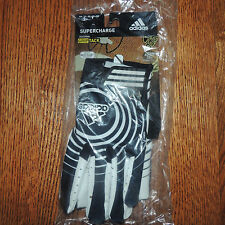 Adidas Supercharge Signal Caller Football Black and White Gloves New Adult 3XL