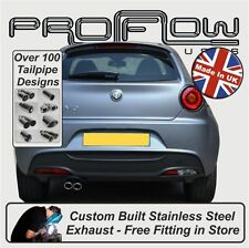 Alfa Romeo Mito Exhaust System, (Cat Back Mid & Rear) Choice of tail Pipes Tips