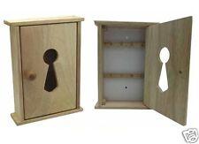 Wooden Wall Key Cupboard Cabinet Rack Beech Wood Holder Storage Box With 8 Hooks
