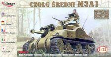 Mirage 72803 , M3A1 Medium Tank (CAST HULL) , SCALE 1/72