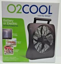 O2COOL 10 inch Battery or Electric Portable Fan