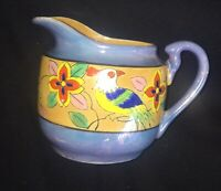 Vintage Hand Painted Lusterware Small Pitcher Creamer Made In Japan