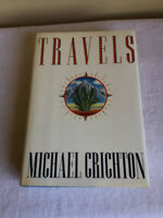 Vintage 1988 Hardcover Dust Jacket Travels Michael Crichton Alfred A Knopf USA